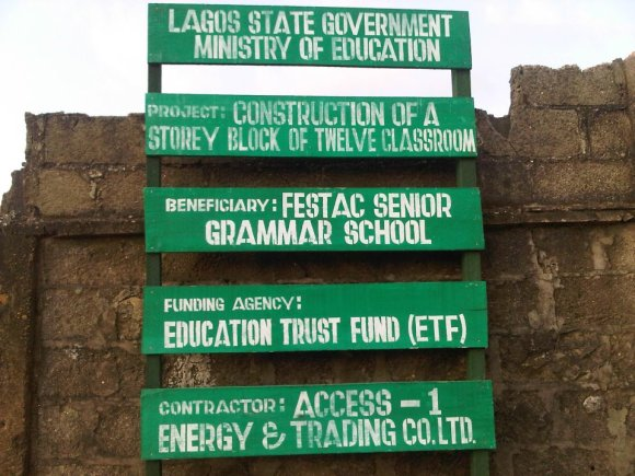 LASG awards contract for Reconstruction work at Festac Grammar School