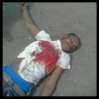 A protester gunned down by the government of Jonathan, Jan 3 2012