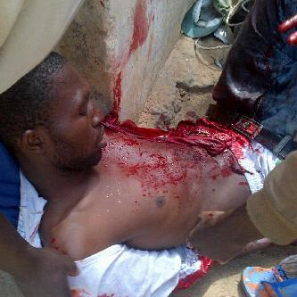 A protester gunned down by Jonathan's men
