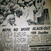USELESS NEPA AND USELESS GOVERNMENT PROMISING END TO BLACKOUT IN 1986