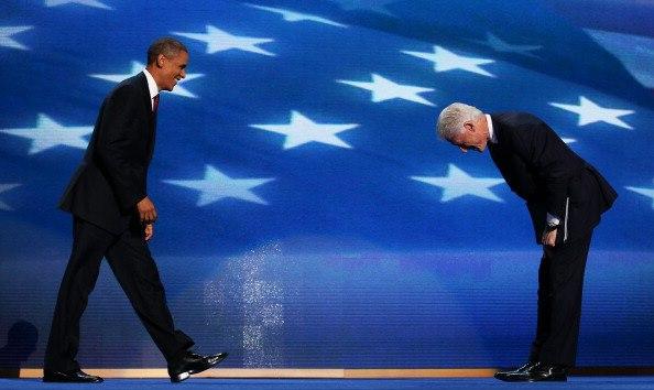 Clinton bows to Obama
