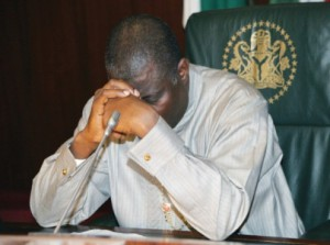 The ruler of Corruption ridden Nigeria, Goodluck Jonathan. A confused, clueless man?