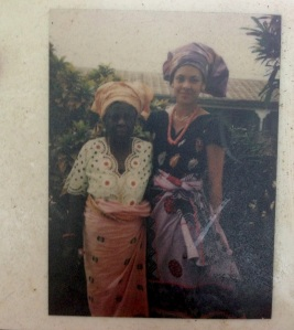 Elizabeth Oghenorvbo Dafinone and her Grandmother in Sapele (circa 1979)