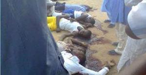 Nigerian school children slaughtered by Boko Haram