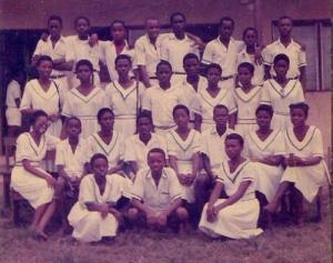 Festac Grammar School Prefects, 1989 set. (sitting 2nd from left: Adeola Aderounmu ca 1988)