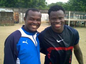 Emeka Okpor and his friend Taiye Taiwo