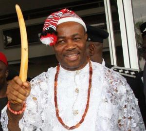 The selfish and self-serving Governor of Akwa Ibom, Mr. Akpabio (This man has no record of mental or physical disability to support his pension. But he will get:N200 million per annum, basic, N100 million, medical allowance, 5-bedroom maisonette, Accommodation allowance of 500 per cent of annual basic salary, Medical allowance not exceeding N12 million per annum for one surviving spouse)