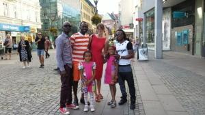 With Tolu Taylor and Adeola Sunmola in Malmö City
