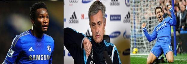 Mikel, Mourinho and Fabregas