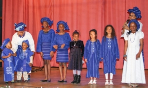 Fashion parade of Yoruba attires.