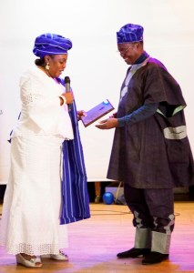 Yoruba Union Stockholm Lifetime membership award and recognition for Dr. Adeniran's contribution to the sustenance of the Yoruba culture and heritage
